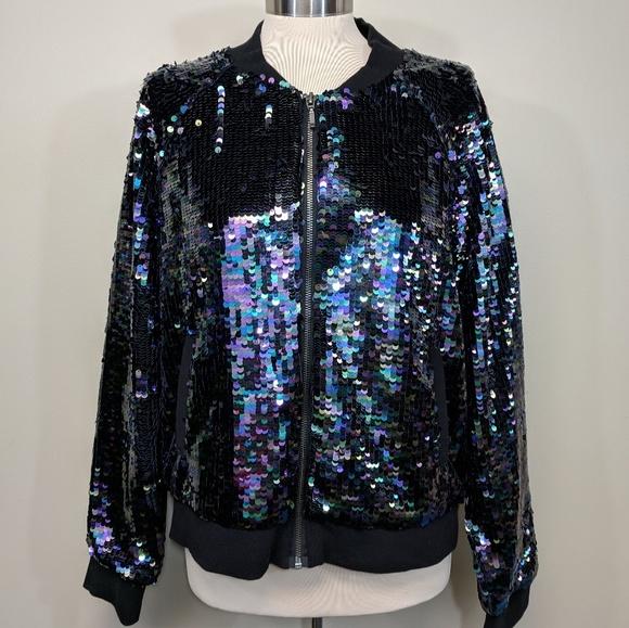 Victoria's Secret Jackets & Blazers - Runway Victoria's Secret Sequined Bomber
